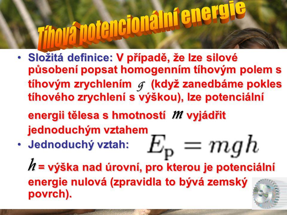 Tíhová potencionální energie