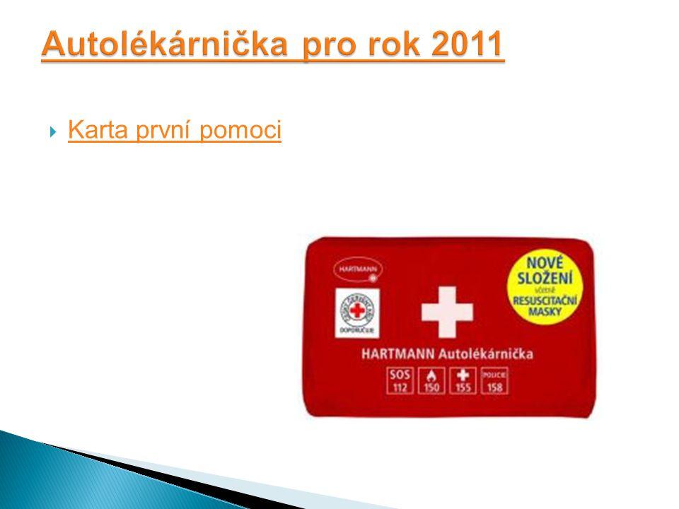 Autolékárnička pro rok 2011