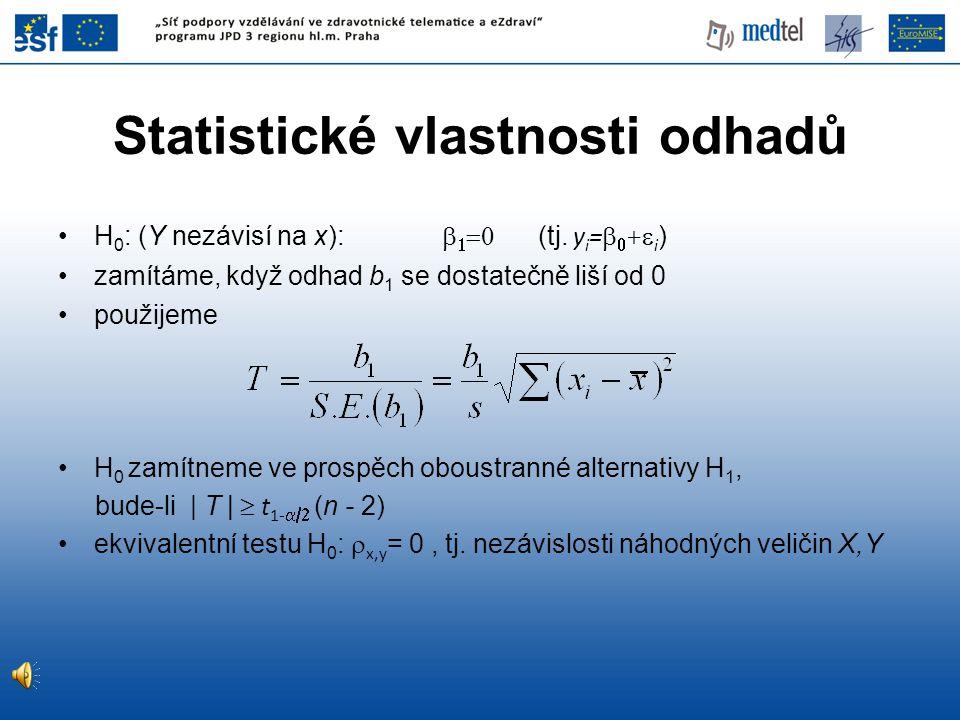 Statistické vlastnosti odhadů