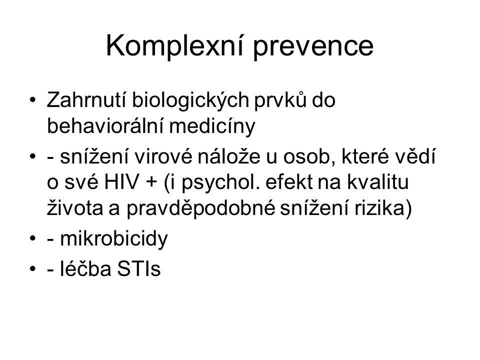Komplexní prevence Zahrnutí biologických prvků do behaviorální medicíny.