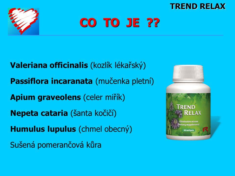 CO TO JE TREND RELAX Valeriana officinalis (kozlík lékařský)