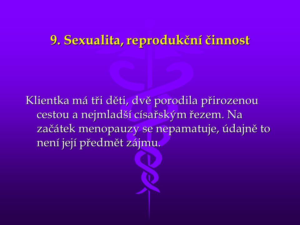 9. Sexualita, reprodukční činnost