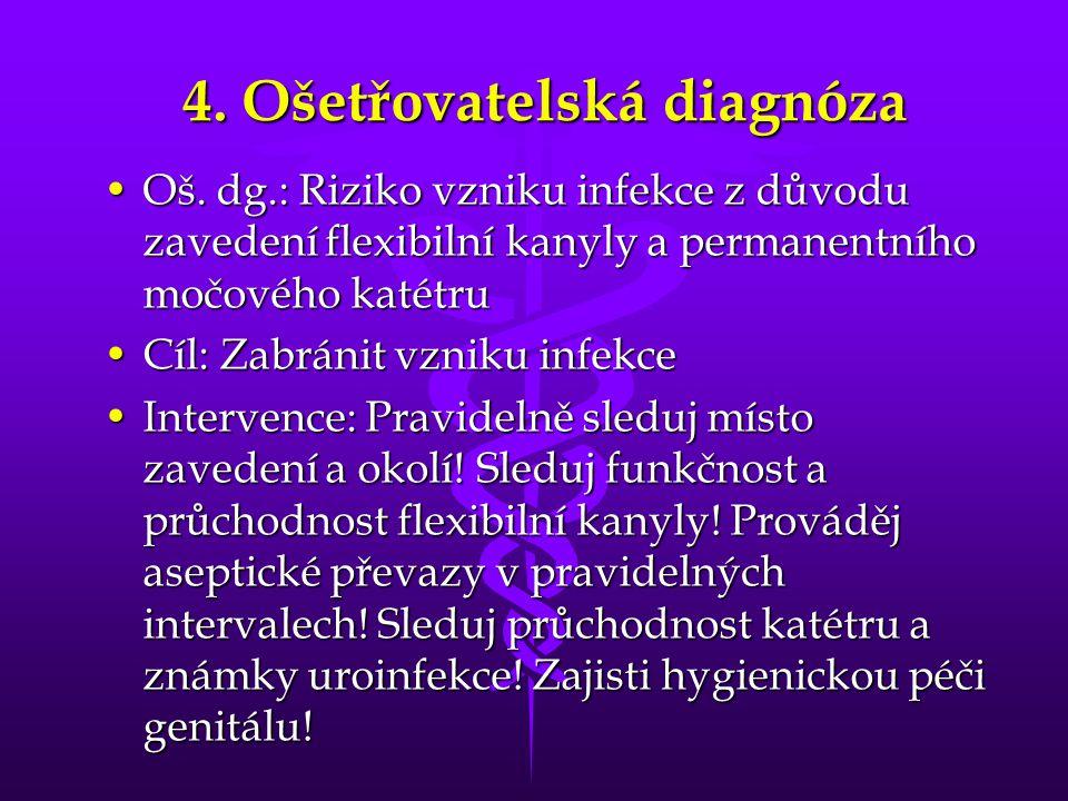 4. Ošetřovatelská diagnóza