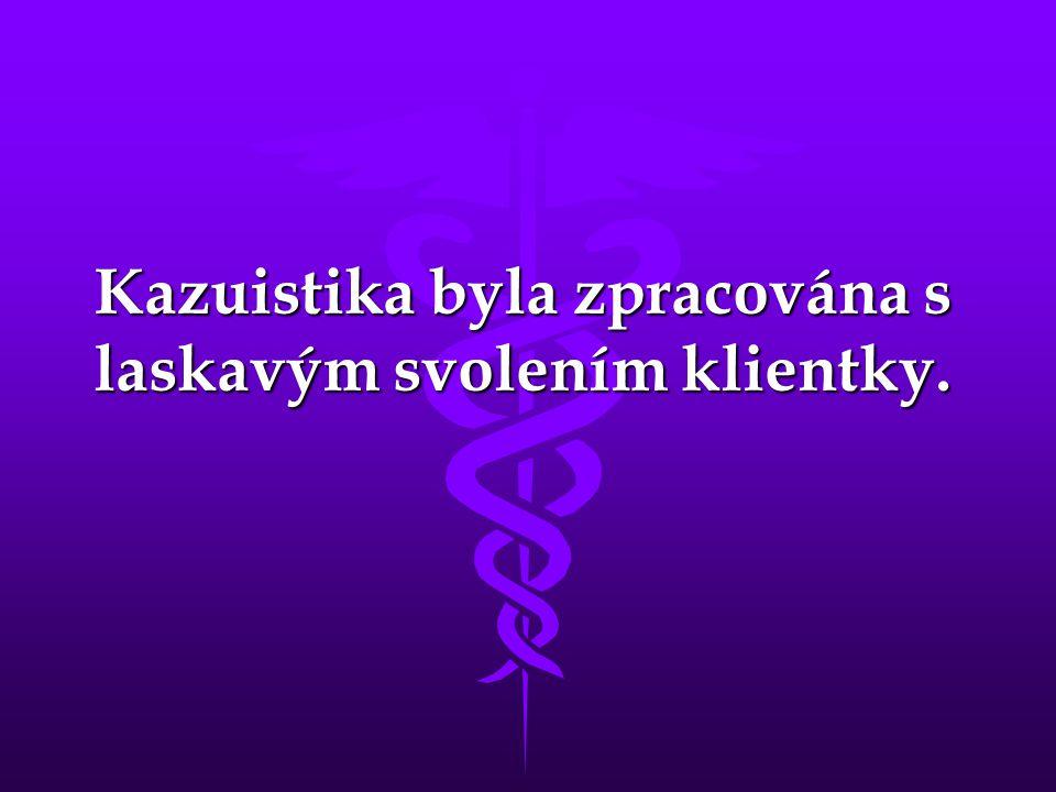 Kazuistika byla zpracována s laskavým svolením klientky.