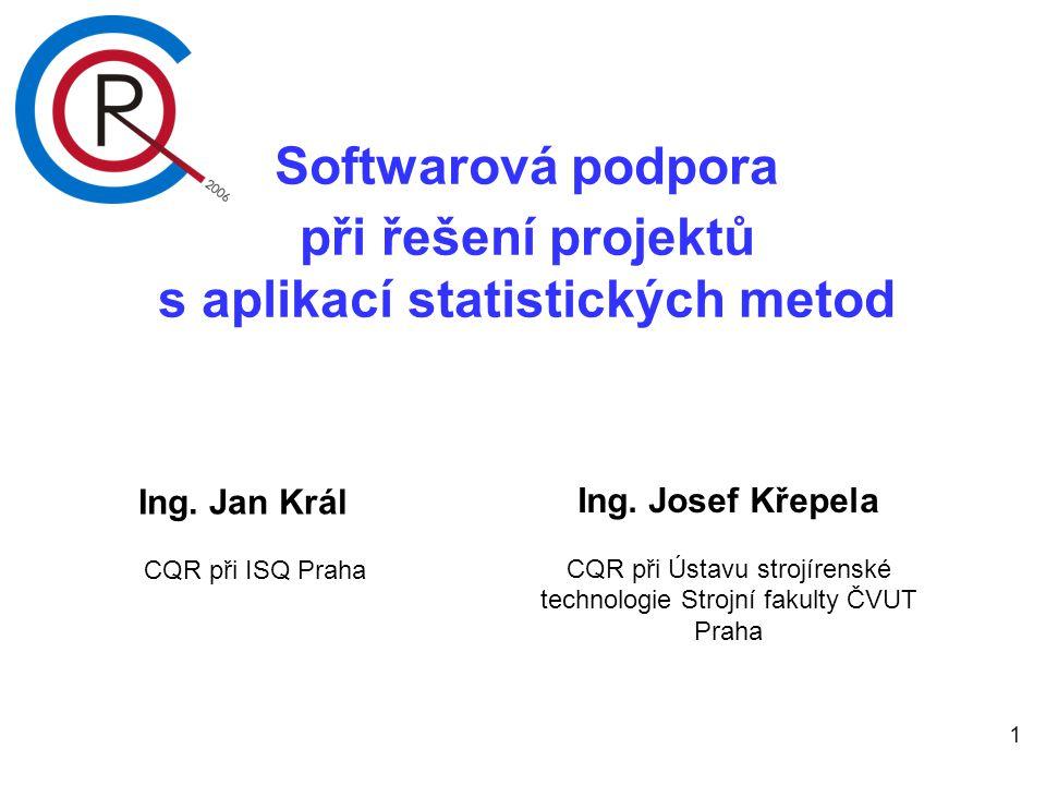 s aplikací statistických metod