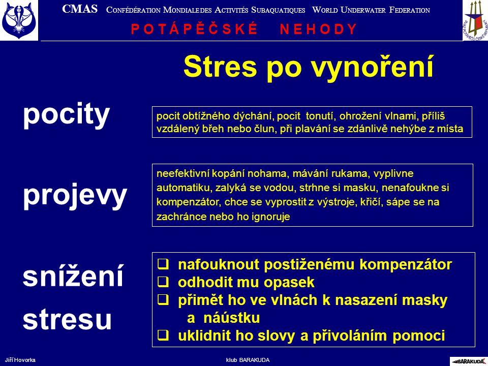 Stres po vynoření pocity projevy snížení stresu