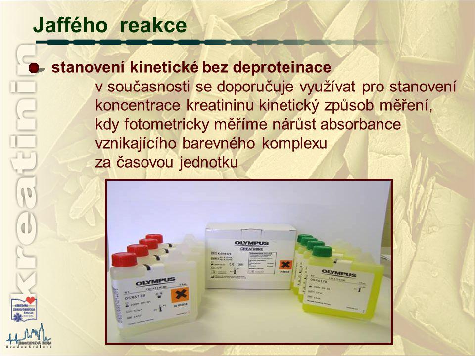 Jaffého reakce stanovení kinetické bez deproteinace
