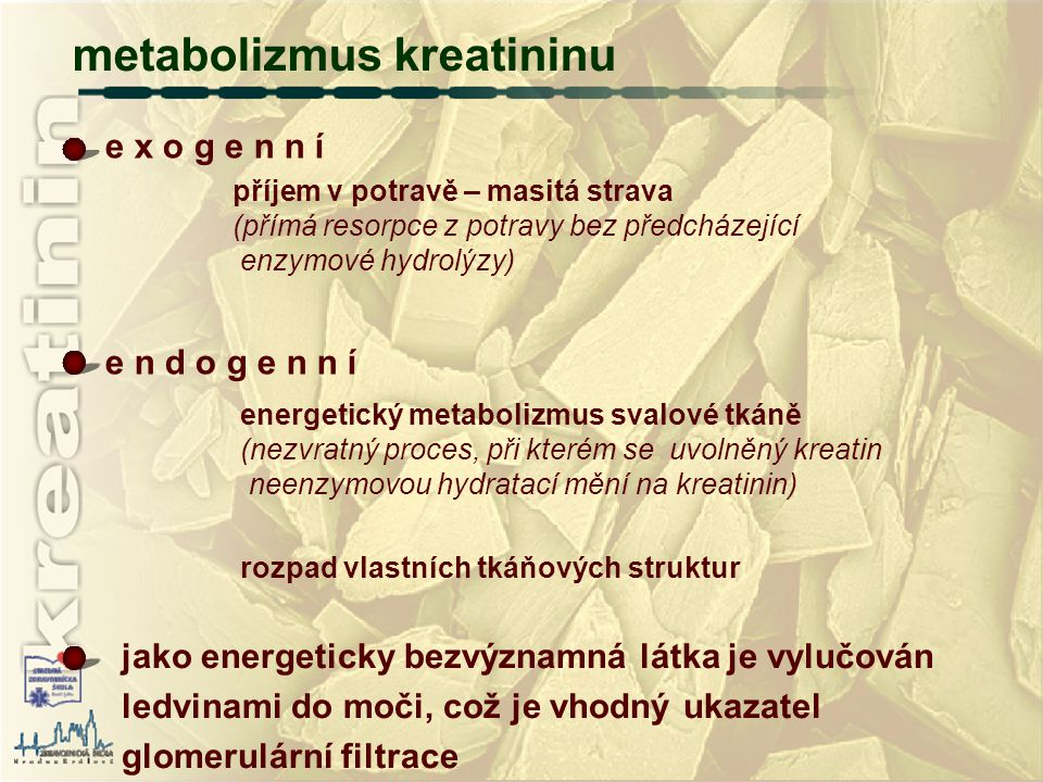 metabolizmus kreatininu