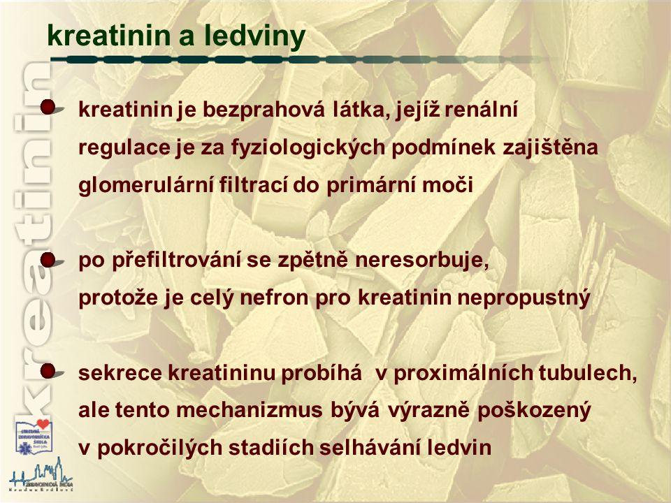 kreatinin a ledviny kreatinin je bezprahová látka, jejíž renální
