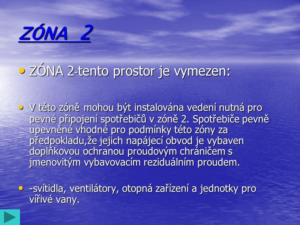 ZÓNA 2 ZÓNA 2-tento prostor je vymezen:
