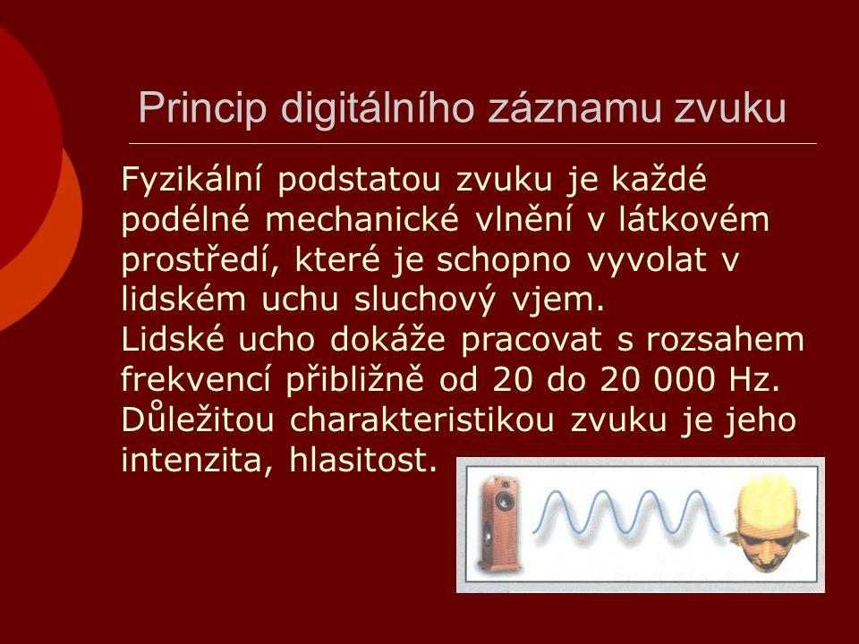 Princip digitálního záznamu zvuku