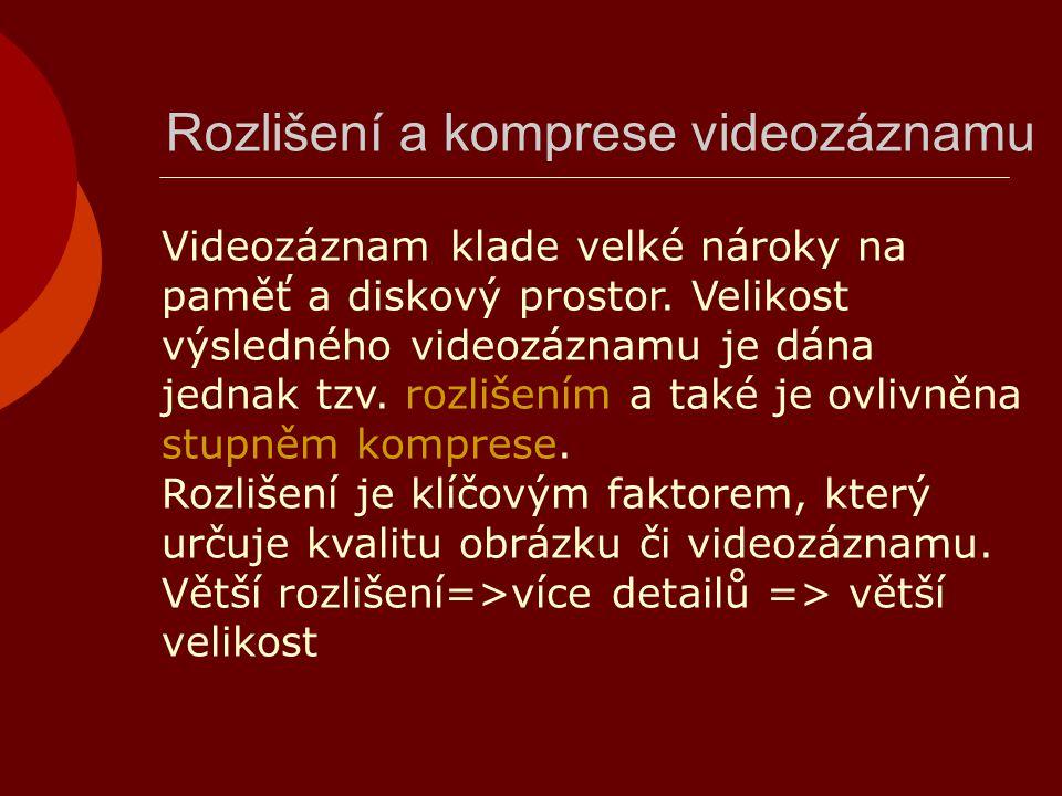 Rozlišení a komprese videozáznamu