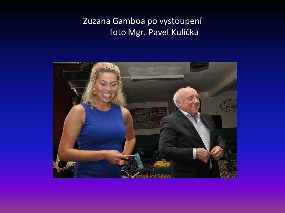 Zuzana Gamboa po vystoupení foto Mgr. Pavel Kulička
