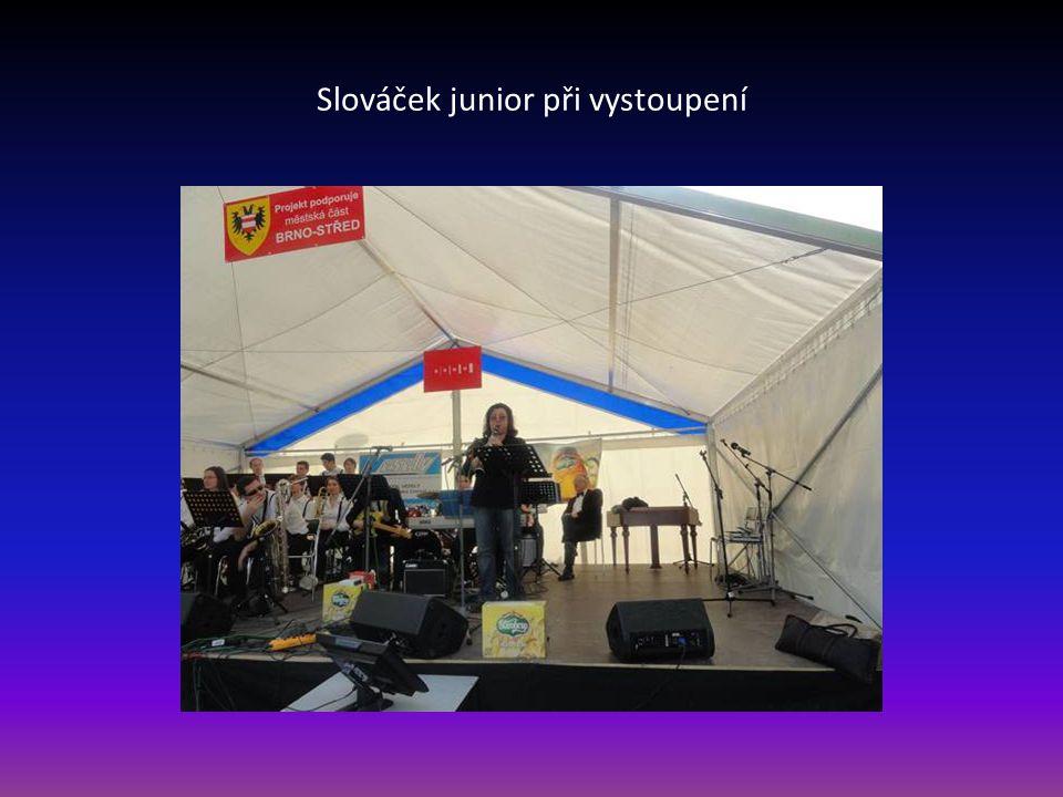 Slováček junior při vystoupení