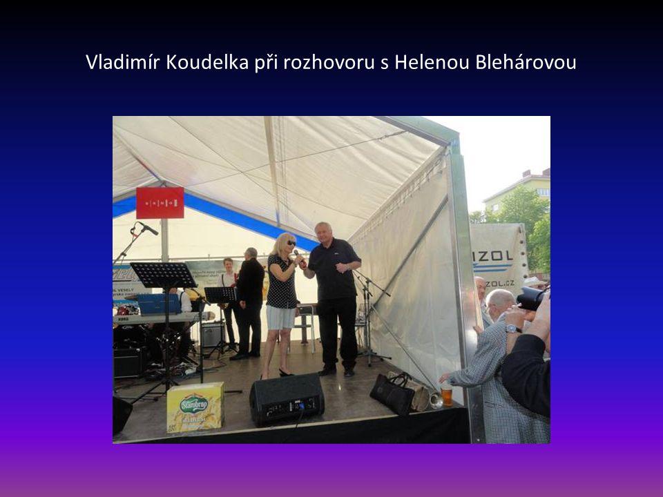 Vladimír Koudelka při rozhovoru s Helenou Blehárovou