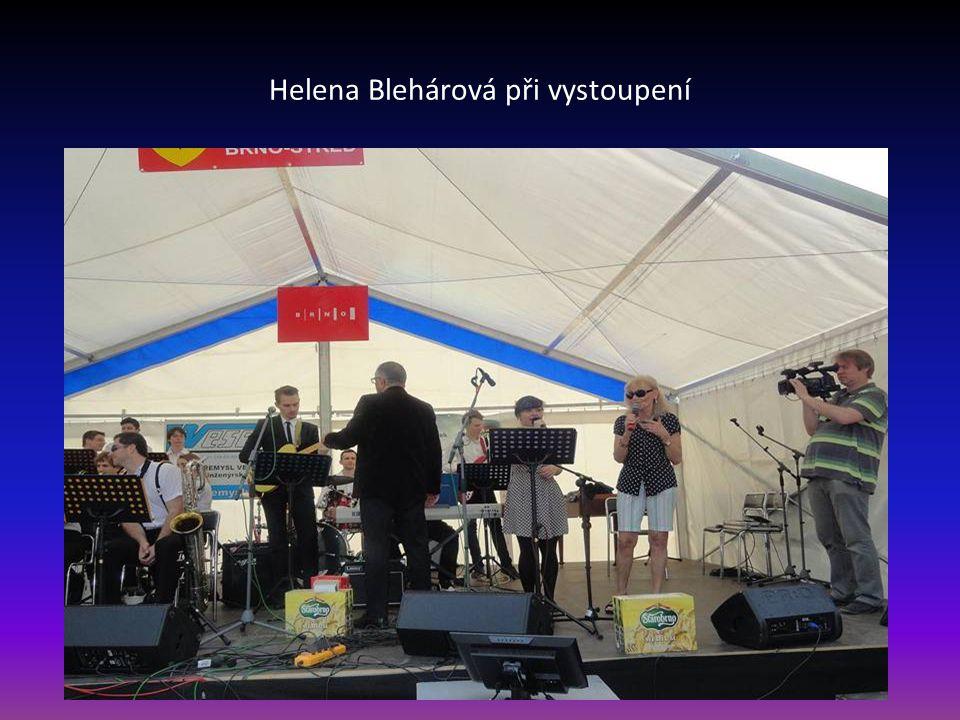 Helena Blehárová při vystoupení