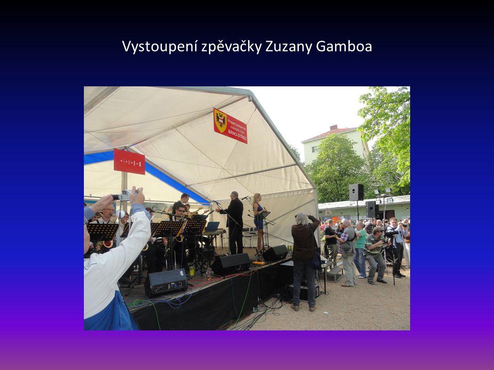 Vystoupení zpěvačky Zuzany Gamboa