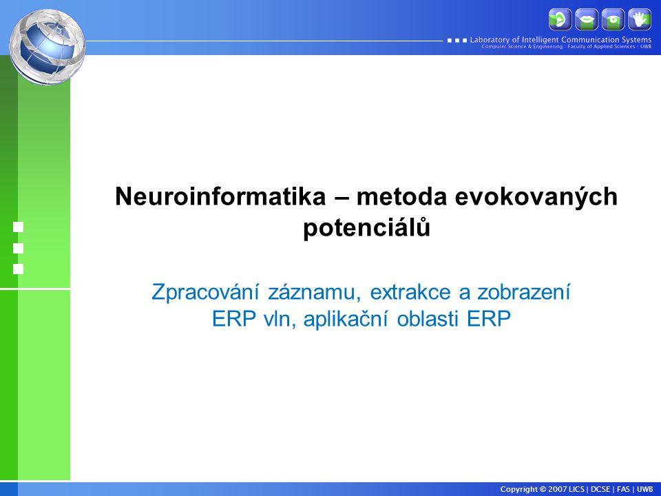 Neuroinformatika – metoda evokovaných potenciálů