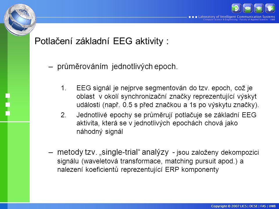 Potlačení základní EEG aktivity :