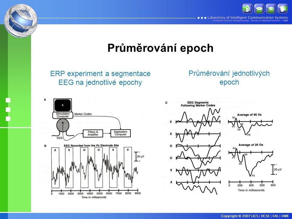 Průměrování epoch ERP experiment a segmentace
