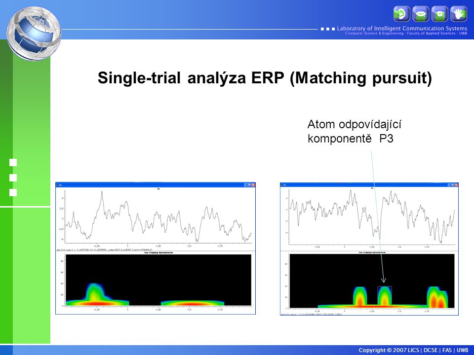 Single-trial analýza ERP (Matching pursuit)