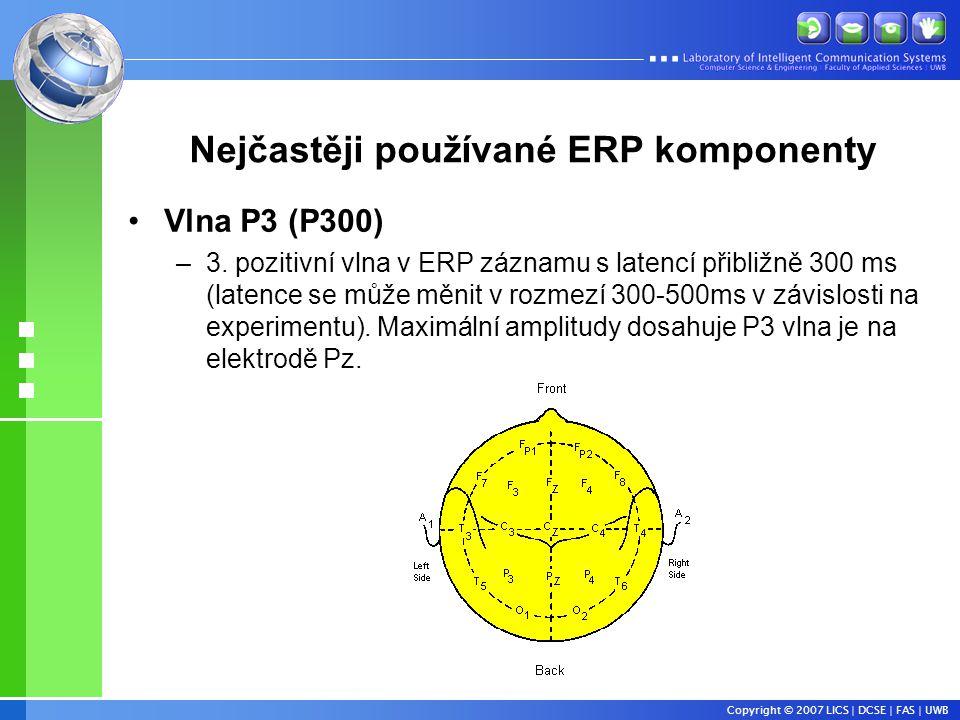 Nejčastěji používané ERP komponenty
