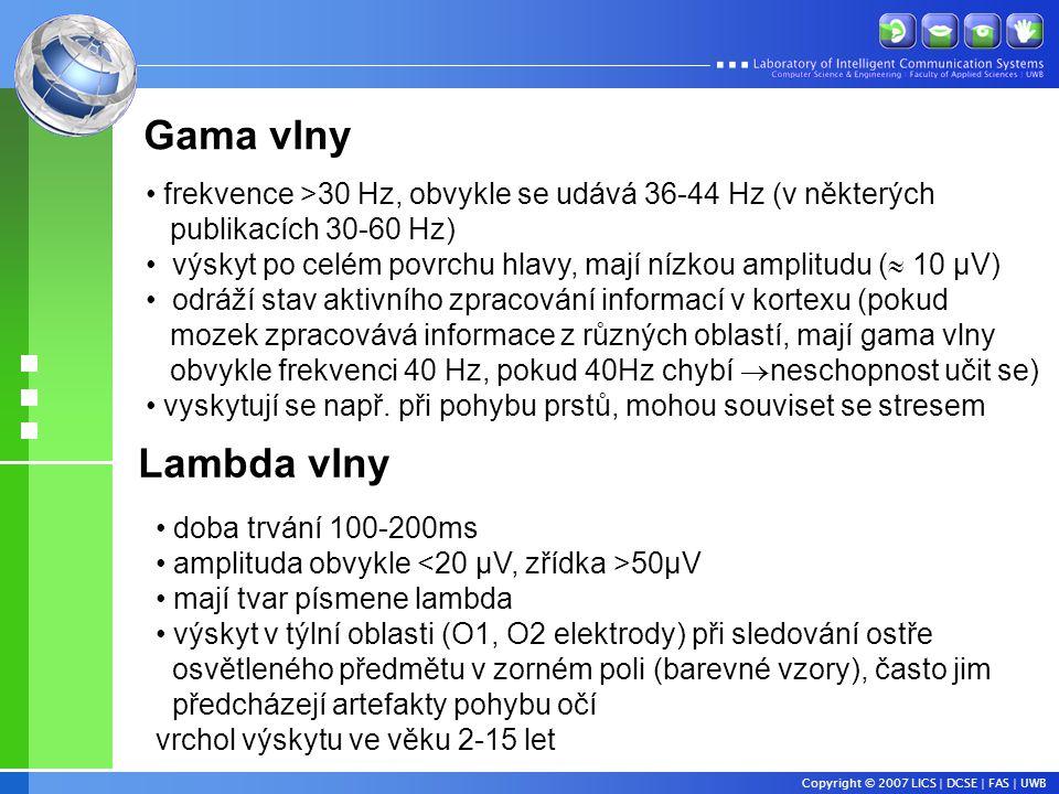 Gama vlny frekvence >30 Hz, obvykle se udává 36-44 Hz (v některých. publikacích 30-60 Hz)