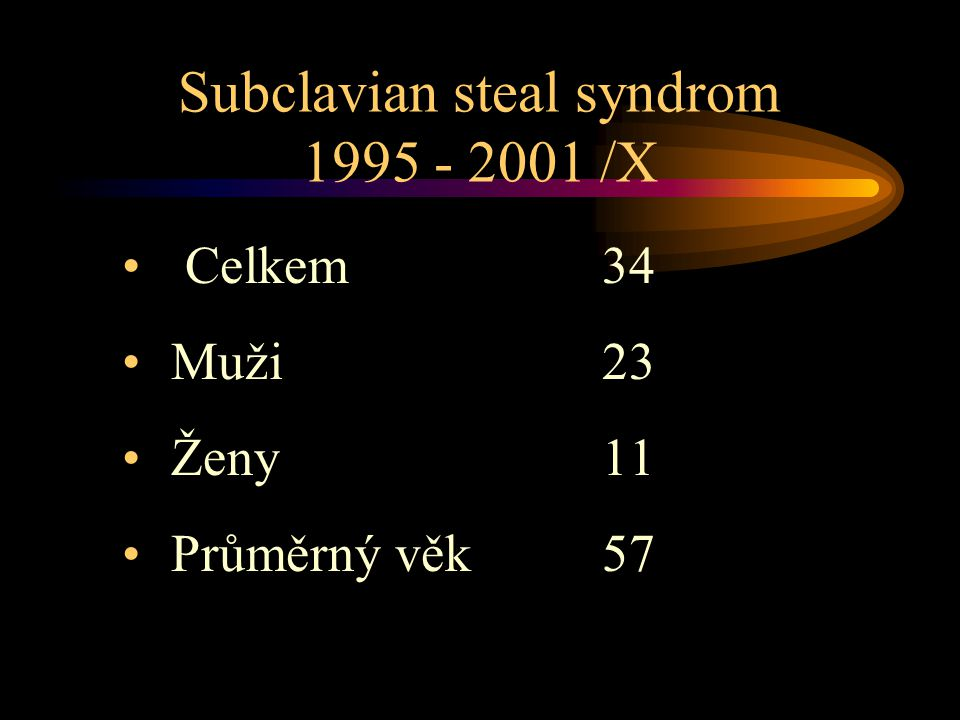 Subclavian steal syndrom 1995 - 2001 /X