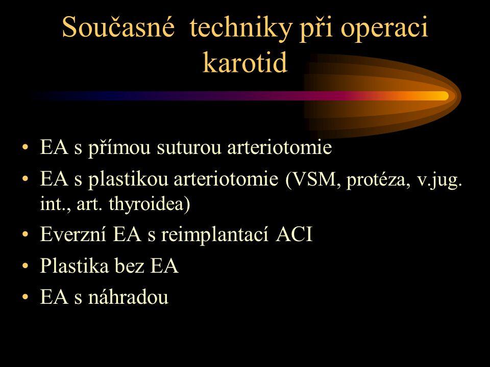 Současné techniky při operaci karotid