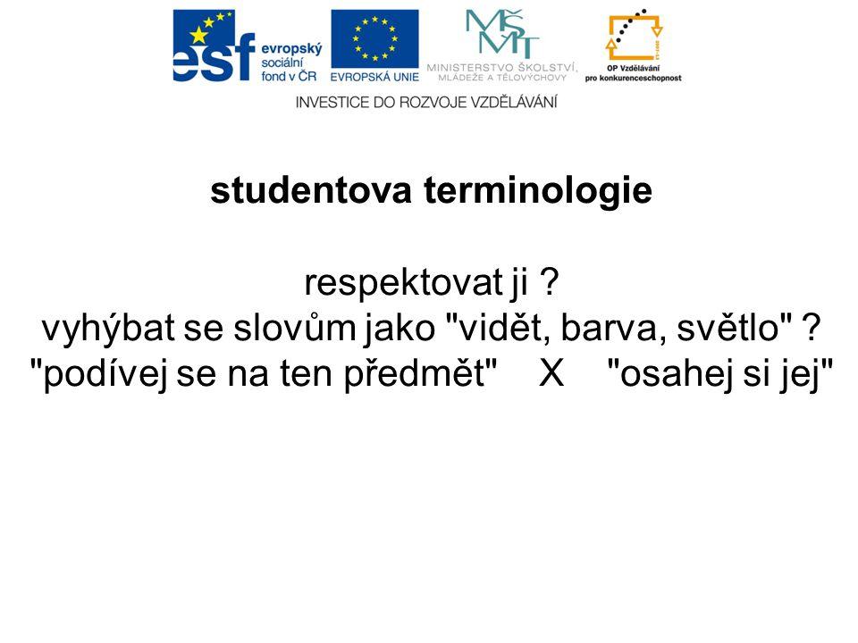 studentova terminologie