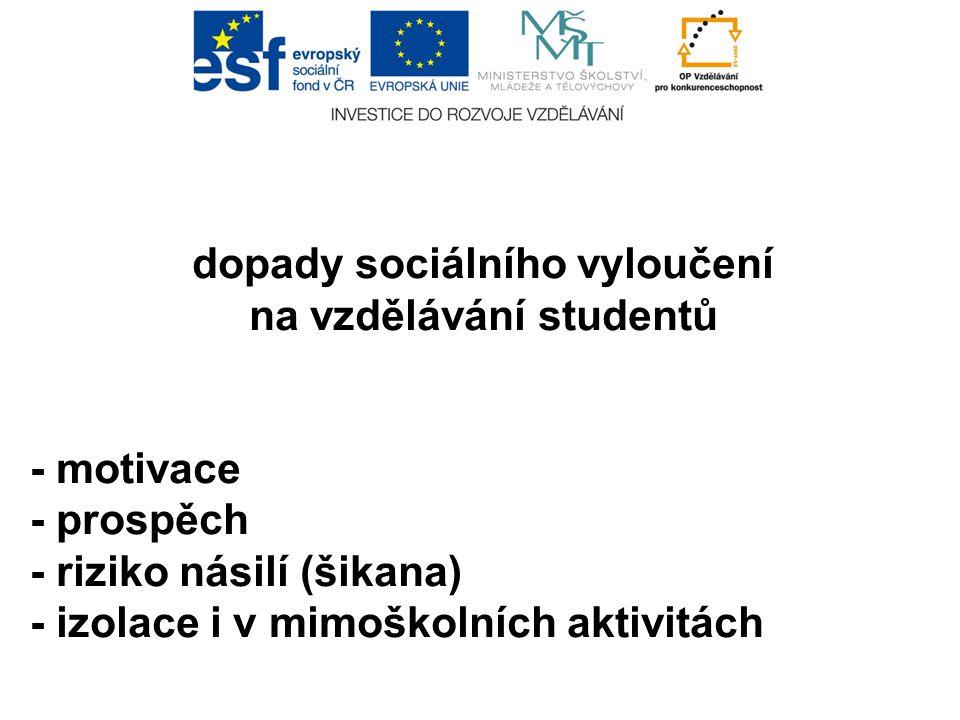 dopady sociálního vyloučení na vzdělávání studentů