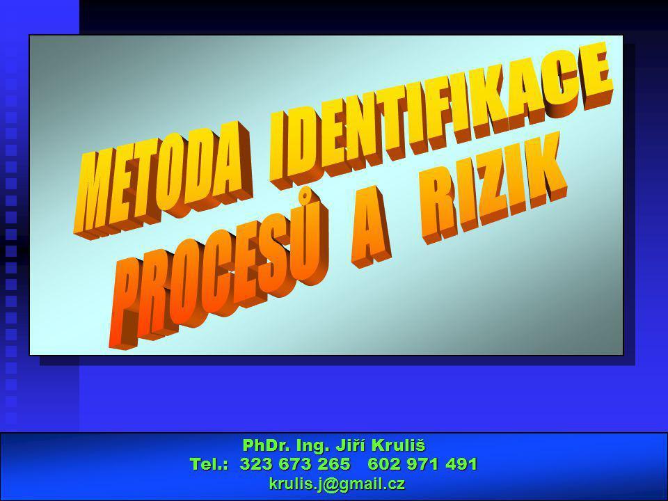 METODA IDENTIFIKACE PROCESŮ A RIZIK