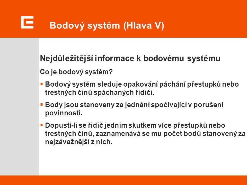 Bodový systém (Hlava V)
