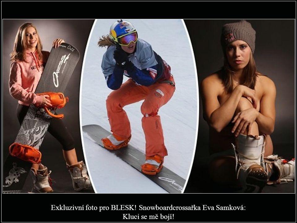 Exkluzivní foto pro BLESK! Snowboardcrossařka Eva Samková: