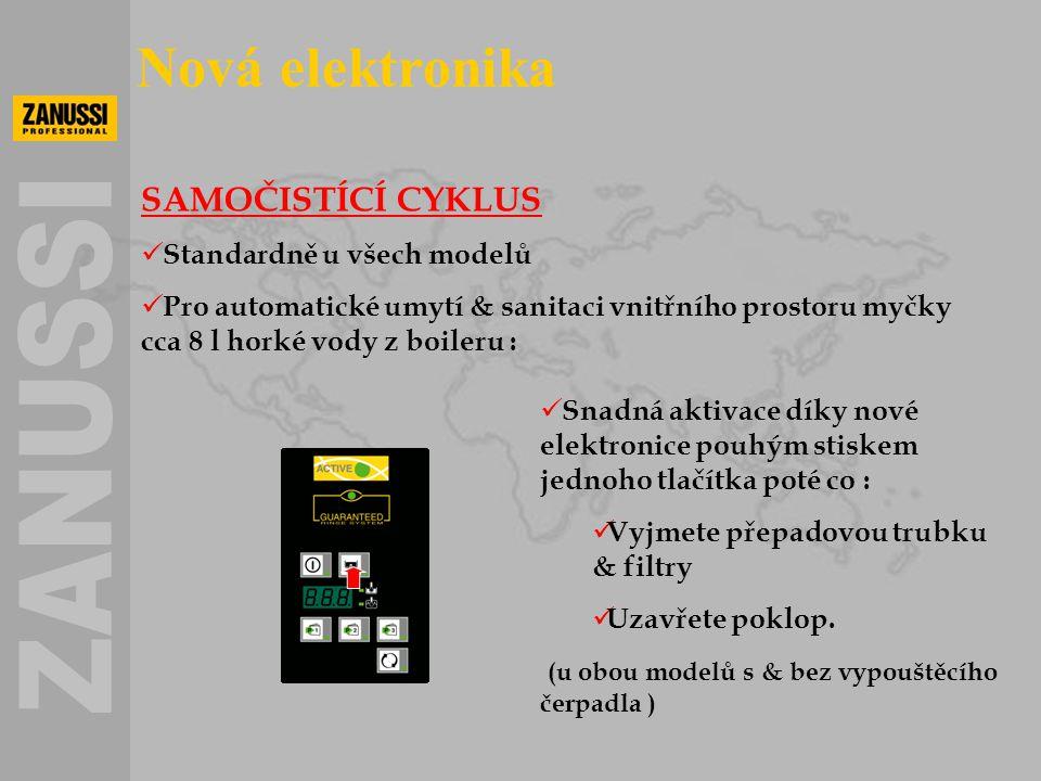 Nová elektronika SAMOČISTÍCÍ CYKLUS Standardně u všech modelů