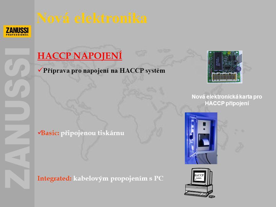 Nová elektronická karta pro HACCP připojení