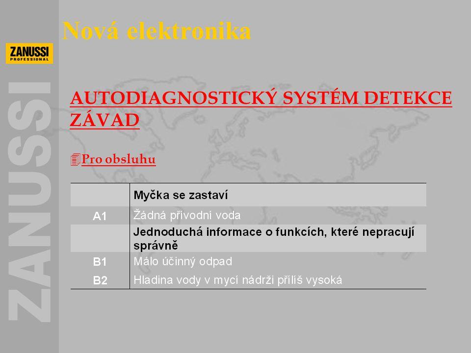 Nová elektronika AUTODIAGNOSTICKÝ SYSTÉM DETEKCE ZÁVAD Pro obsluhu