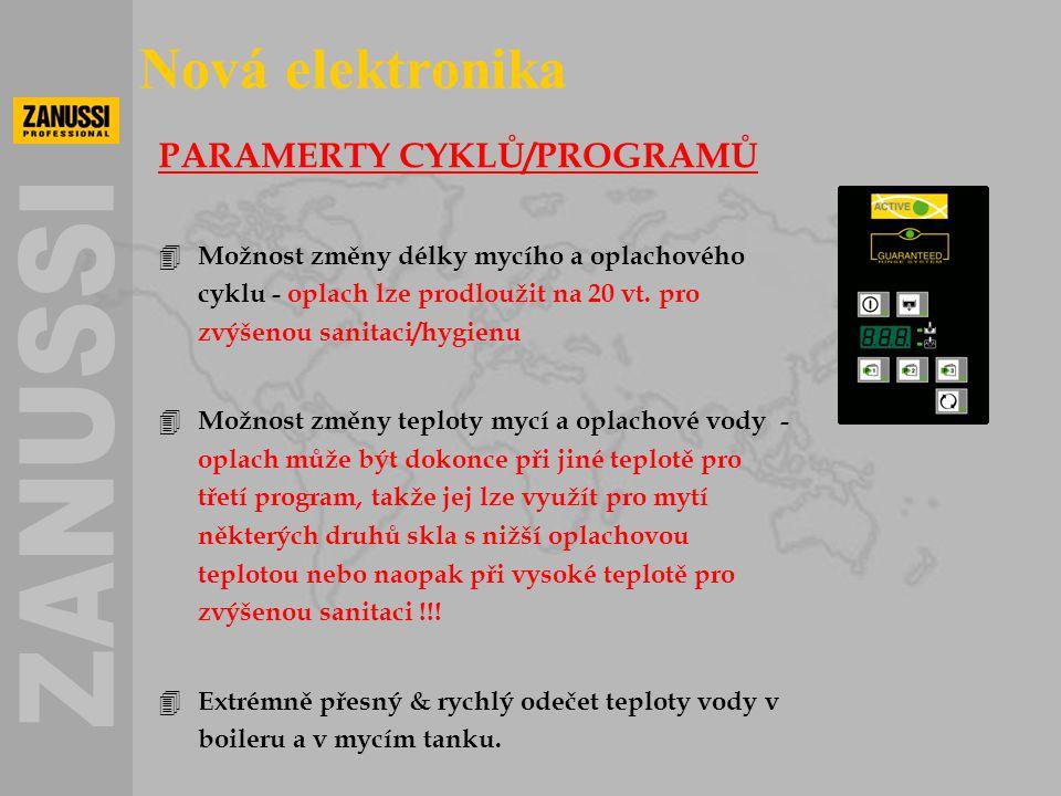 Nová elektronika PARAMERTY CYKLŮ/PROGRAMŮ
