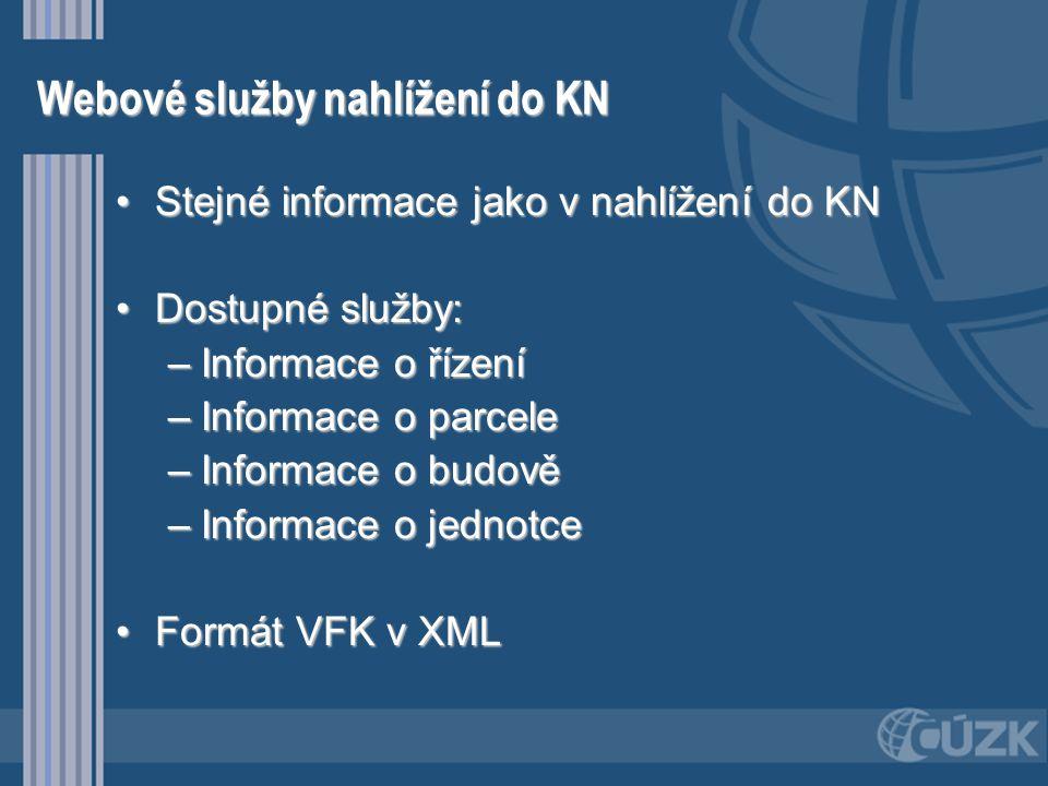 Webové služby nahlížení do KN