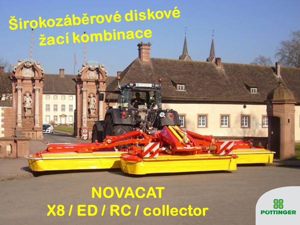 Širokozáběrové diskové žací kombinace NOVACAT X8 / ED / RC / collector