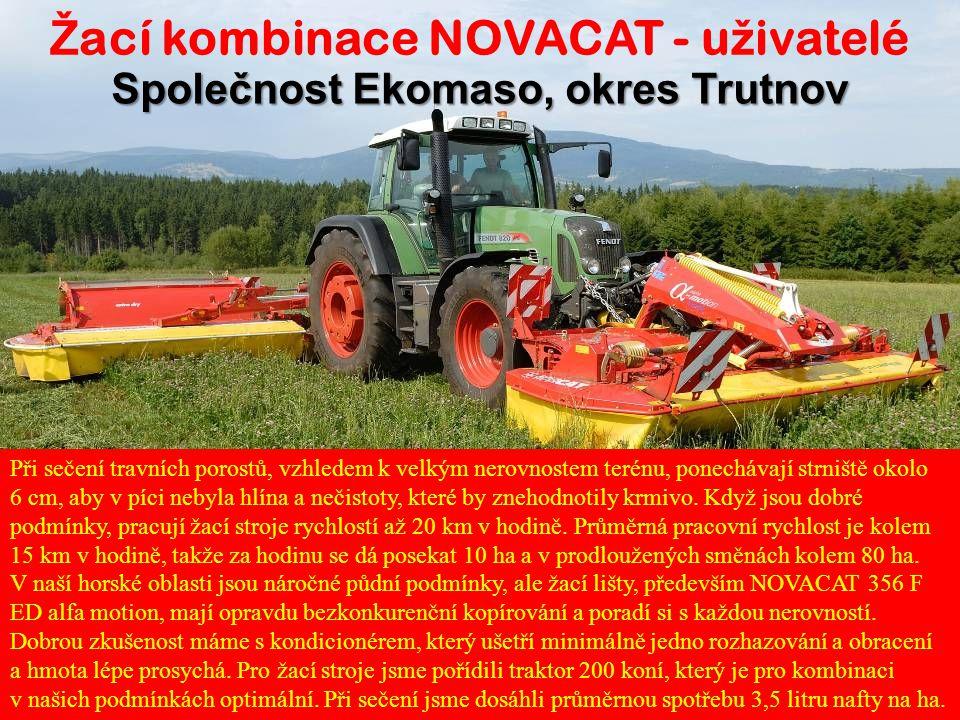 Žací kombinace NOVACAT - uživatelé Společnost Ekomaso, okres Trutnov