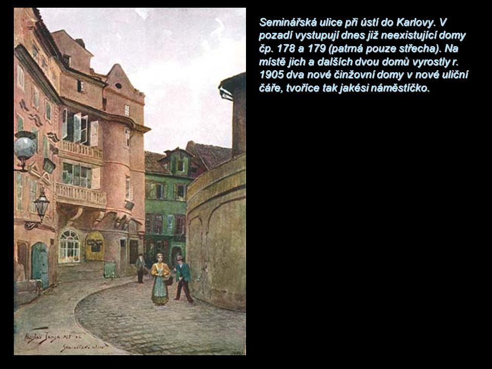 Seminářská ulice při ústí do Karlovy