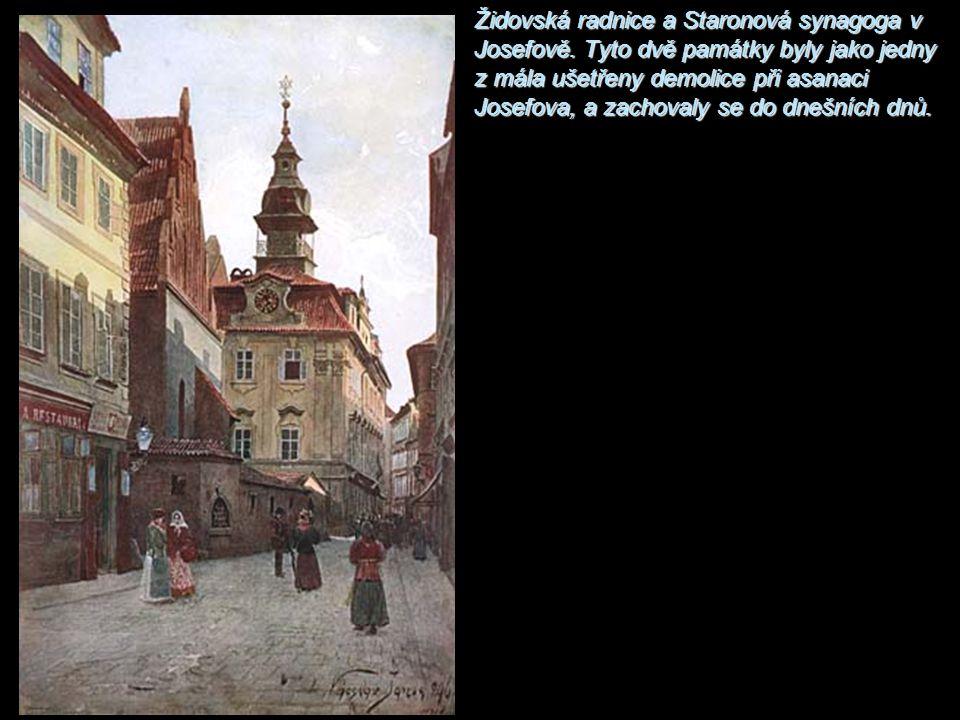 Židovská radnice a Staronová synagoga v Josefově