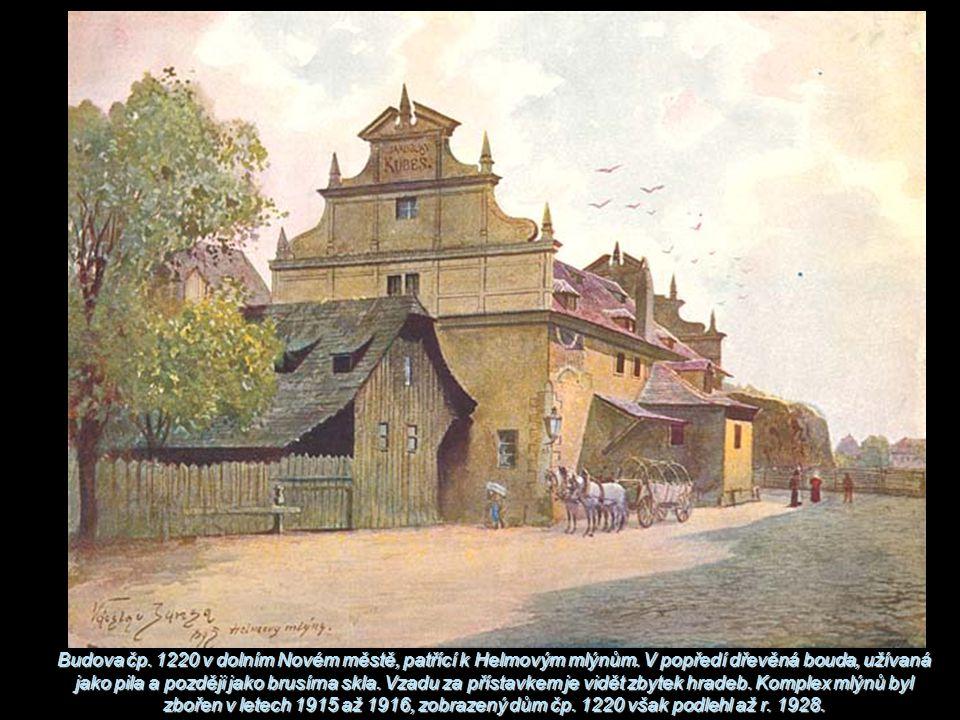 Budova čp. 1220 v dolním Novém městě, patřící k Helmovým mlýnům