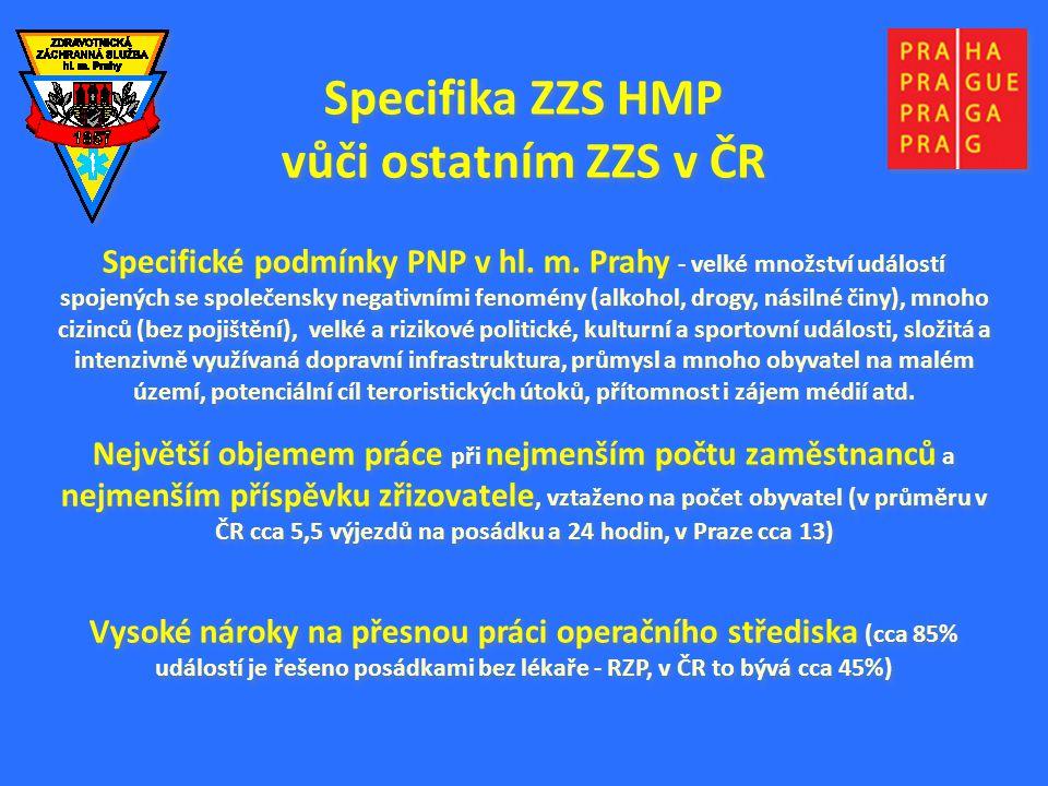 Specifika ZZS HMP vůči ostatním ZZS v ČR