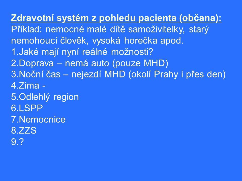 Zdravotní systém z pohledu pacienta (občana):