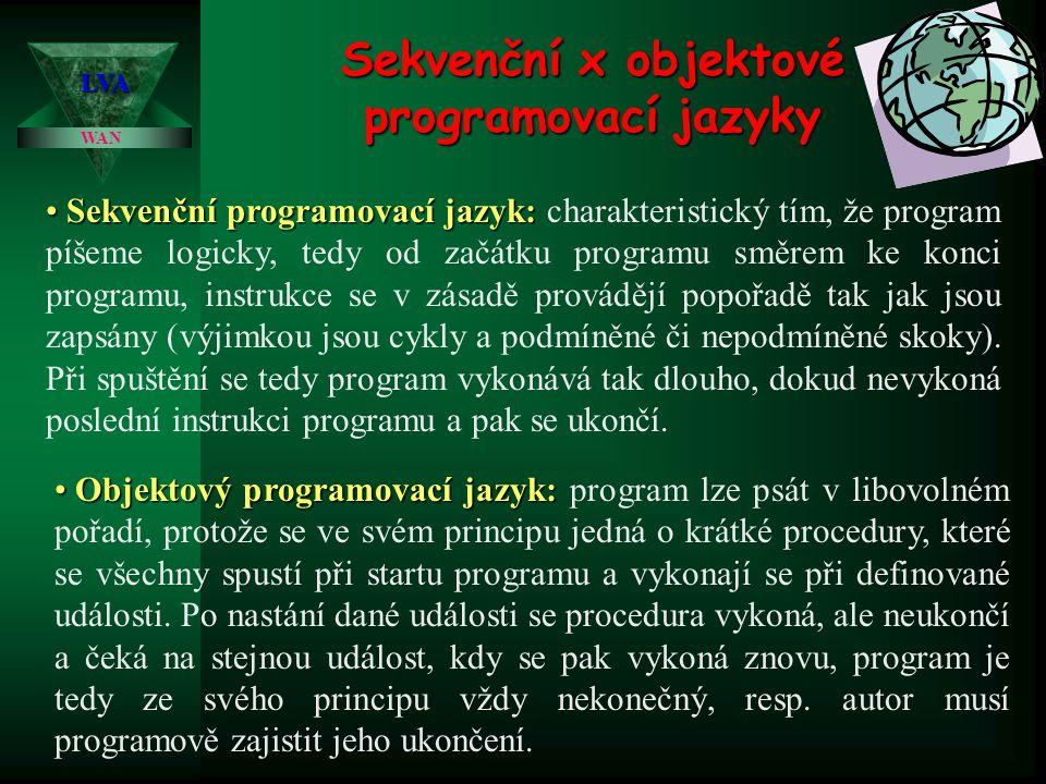 Sekvenční x objektové programovací jazyky
