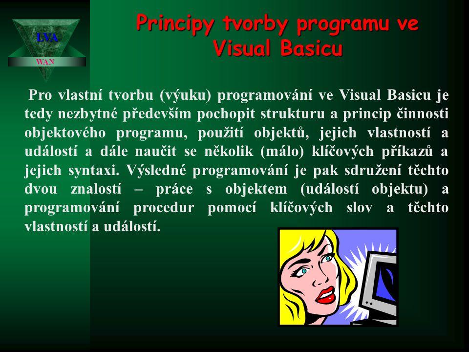 Principy tvorby programu ve Visual Basicu