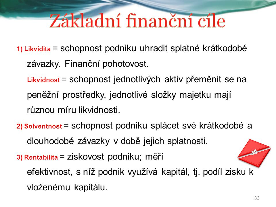 Základní finanční cíle