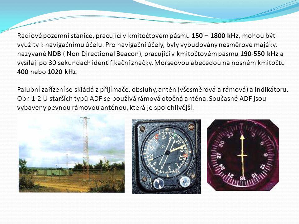 Rádiové pozemní stanice, pracující v kmitočtovém pásmu 150 – 1800 kHz, mohou být využity k navigačnímu účelu.